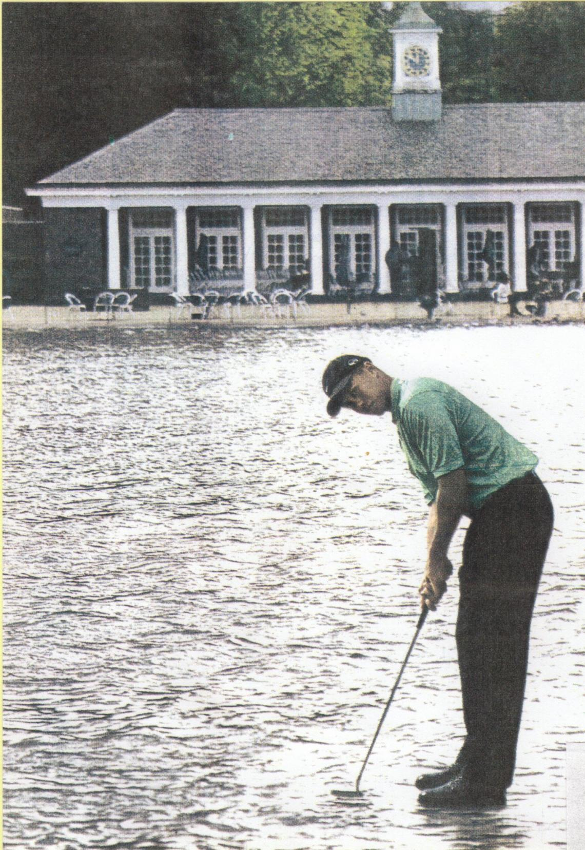1996 PGA Tour Rookie of the Year testing the water