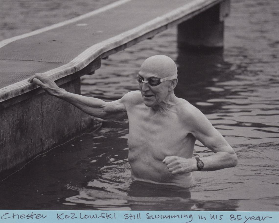 Olympian Chester Koslowski swam in the Serpentine well into his 80s