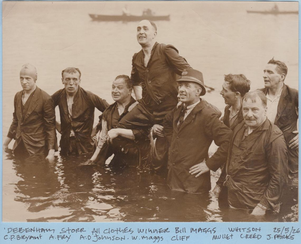 Bill won the All Clothes Race in 1926