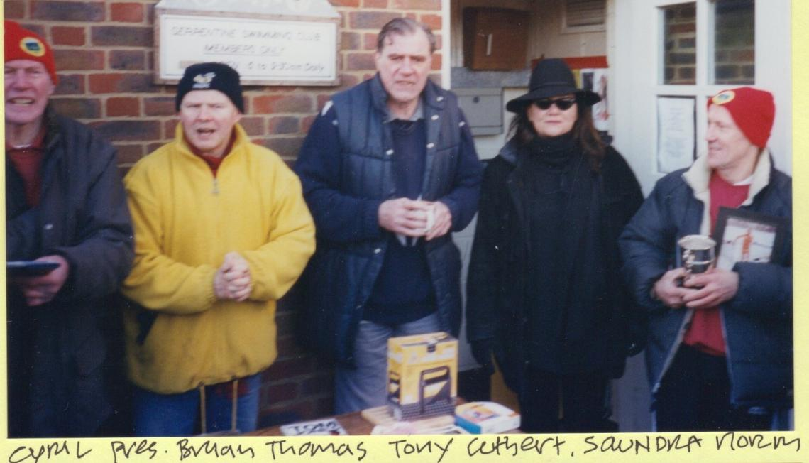 2003, the cup was received by series winner Norman Jones on a cold February morning
