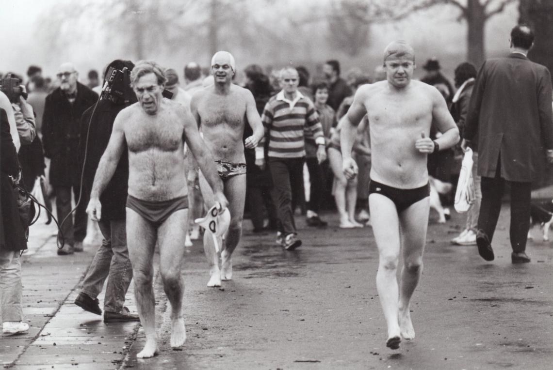 1987, the long walk back after the Christmas Day 100 yards, dodging the crowds and media alike.