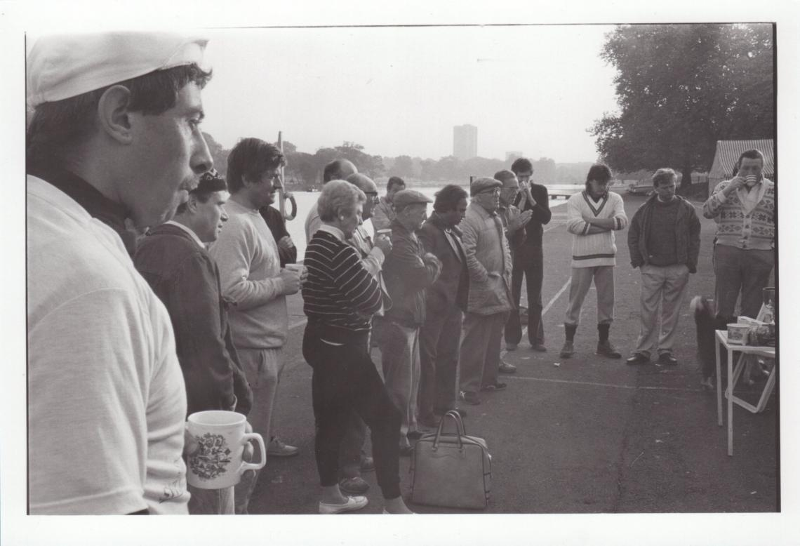 1987, Dave watching the prize giving