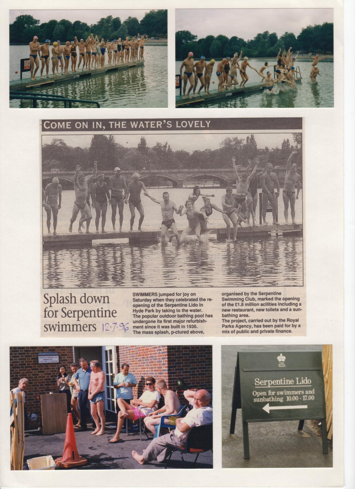 We were able to continue racing, with the Lido eventually reopening to the public in July 1996.