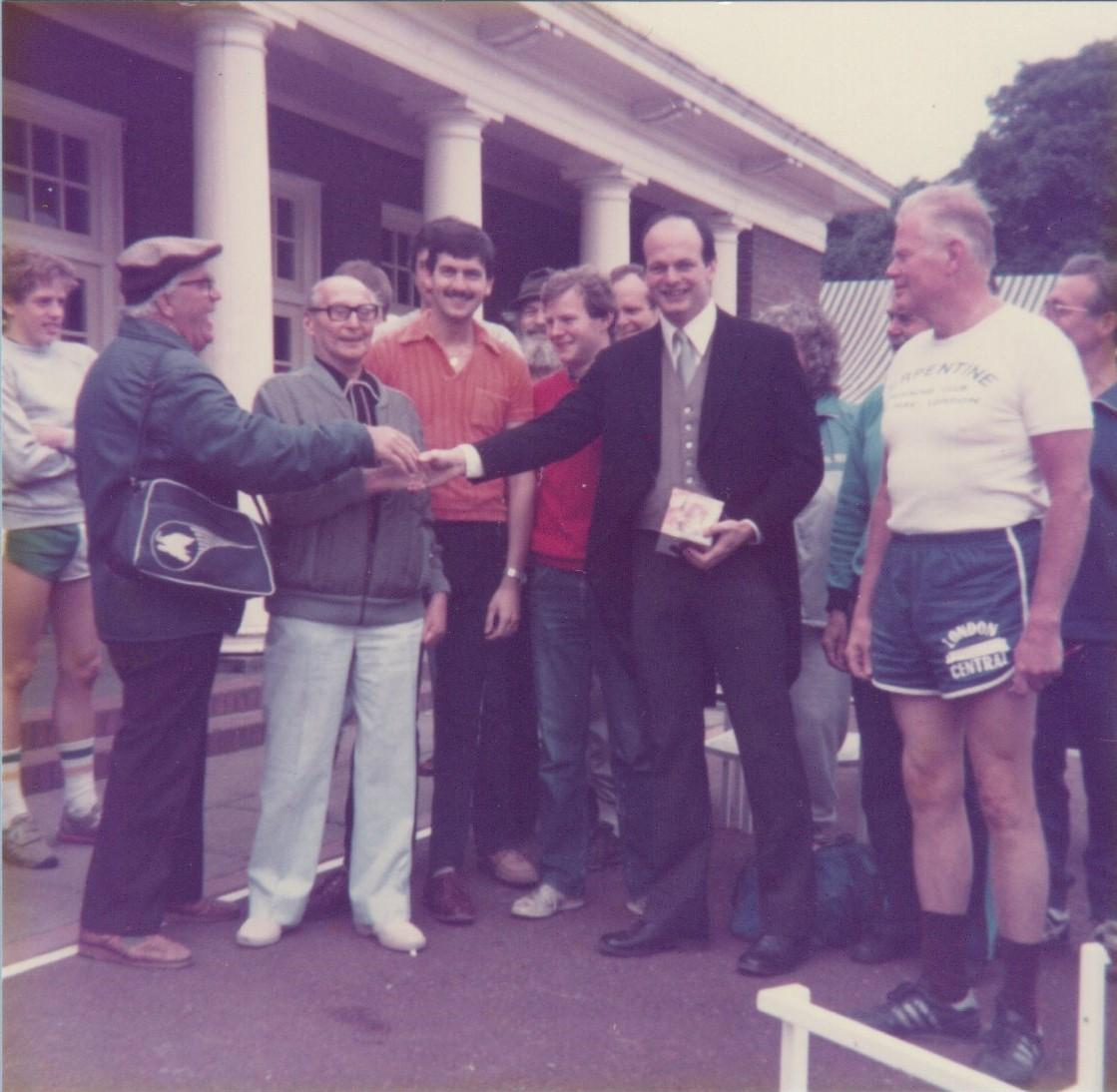 No, not the All Clothes Race -  after the Saturday race Mike headed off to the Trooping the Colour, June 1983