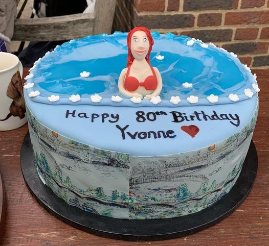 Squrril has her cake