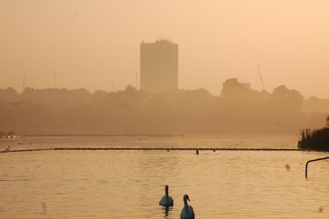 We were met by an autumnal, misty and evocative scene on the lake