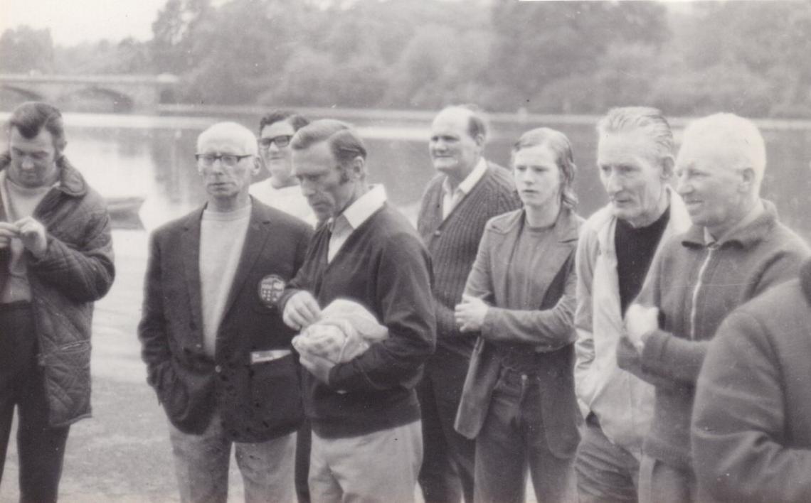 July 1972, listening to the post race speech