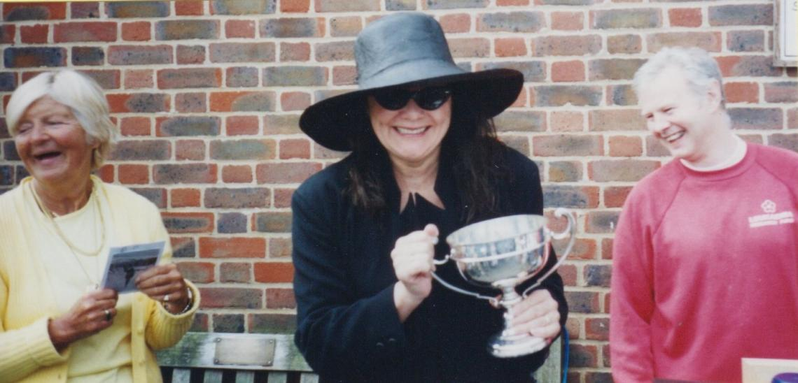 1st lady to win one of the club's two Blue Ribbon events -  2002 Bridge to Bridge