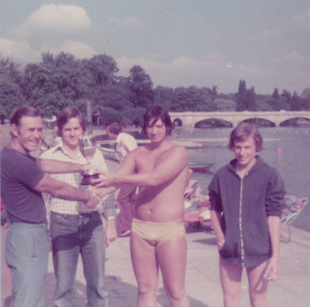 1976, presenting John Perkins with the club championship cup