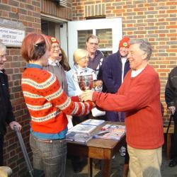 2004 and Bill is presented with the Clary Reed cup for winning Alan Lacy's breastroke race