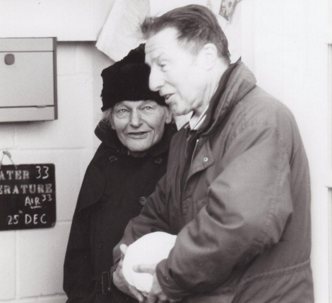 With Ray Sutton, Christmas Day 1996
