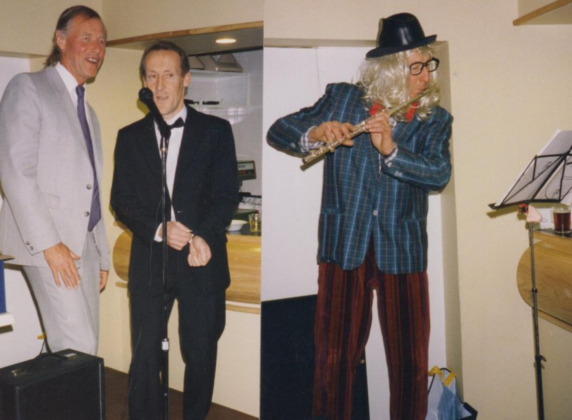 1995 Serps party. This time the instrument is more formal, but not the outfit (note the leather trilby made another appearance)