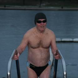 2010 and Alan Lacy slowly enters the frozen lake