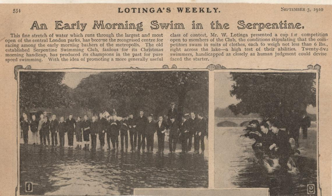 September 1910 fixture -  the Lotinga cup, as reported in Lotinga's Weekly