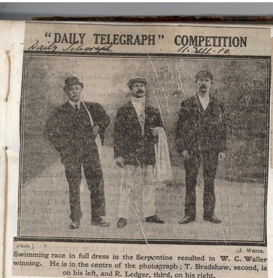 Tommy came second in the 1910 All Clothes Race