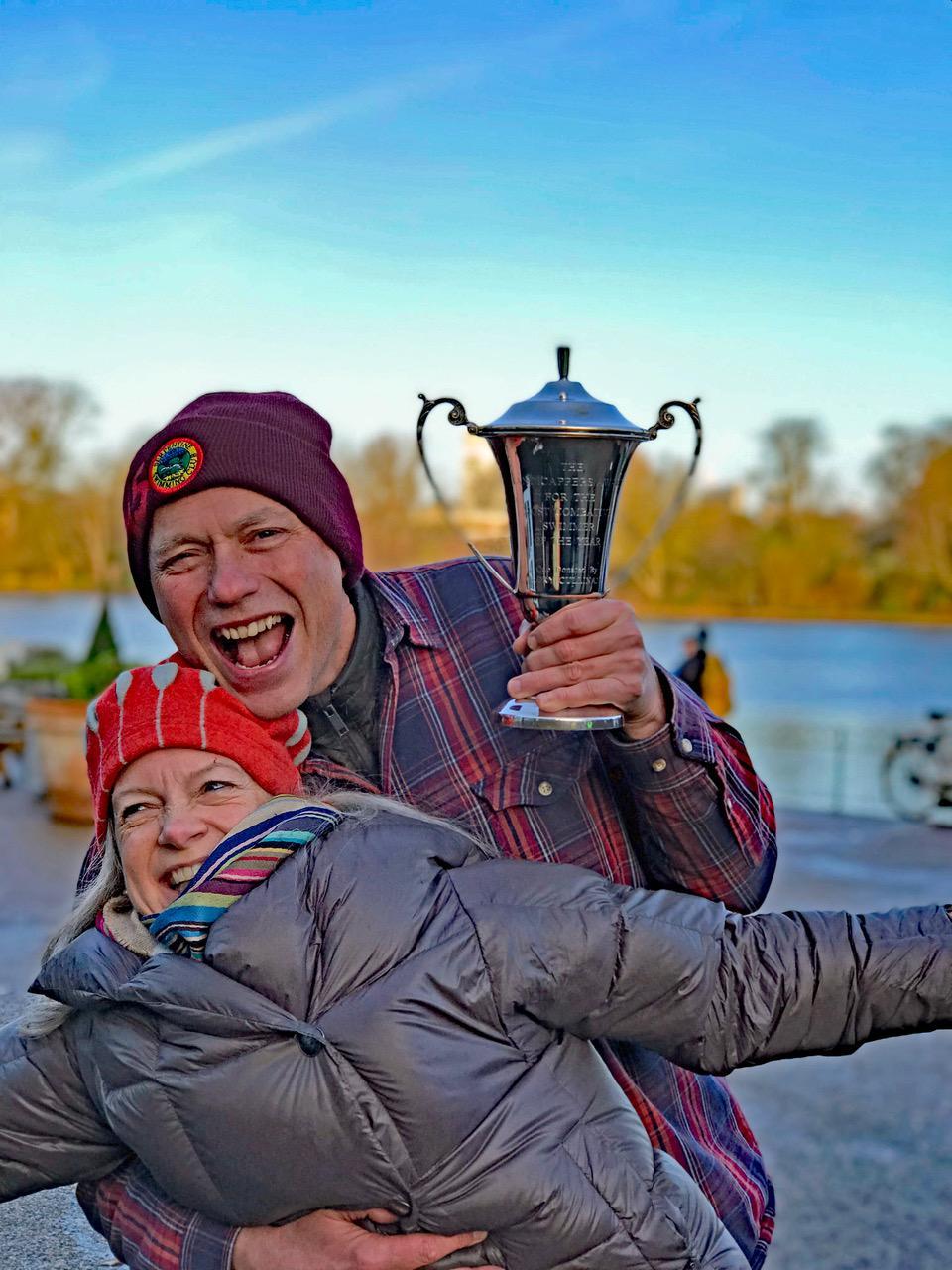 Sarah Ouldcott celebrates her Combative Trophy Husband