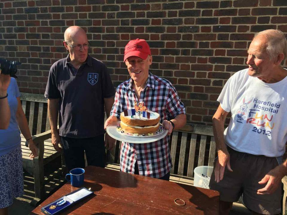 2018 also saw us share a tasty, home baked cake to celebrate Linda Paxton and Liz Hurst's Channel relay success