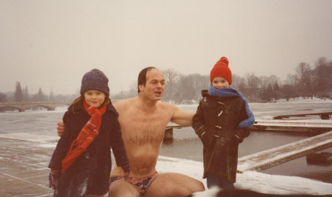 Mike has always had strong family support (so strong they stay well wrapped up whilst daft Dad has a dip)