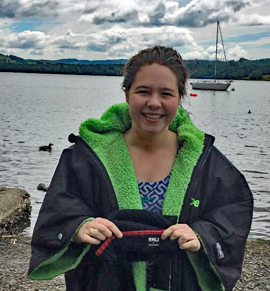 Rosemary Lewis successfully swims Lake Windermere