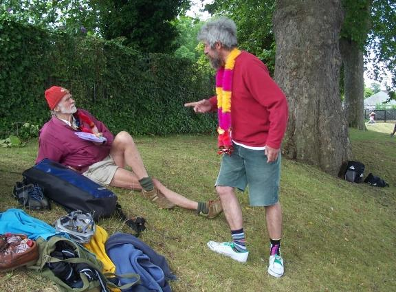 2009 and Dave is in deep discussion with Donald, another of our sadly missed Serpentine eccentrics