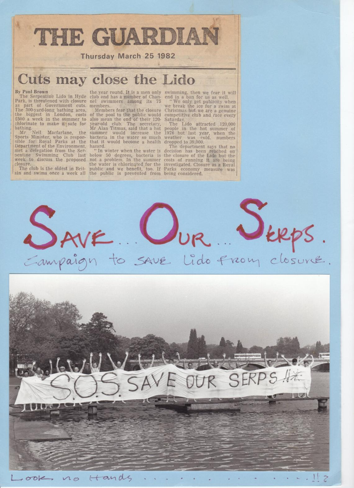 1982 campaign to stop the closure of the lake to swimming