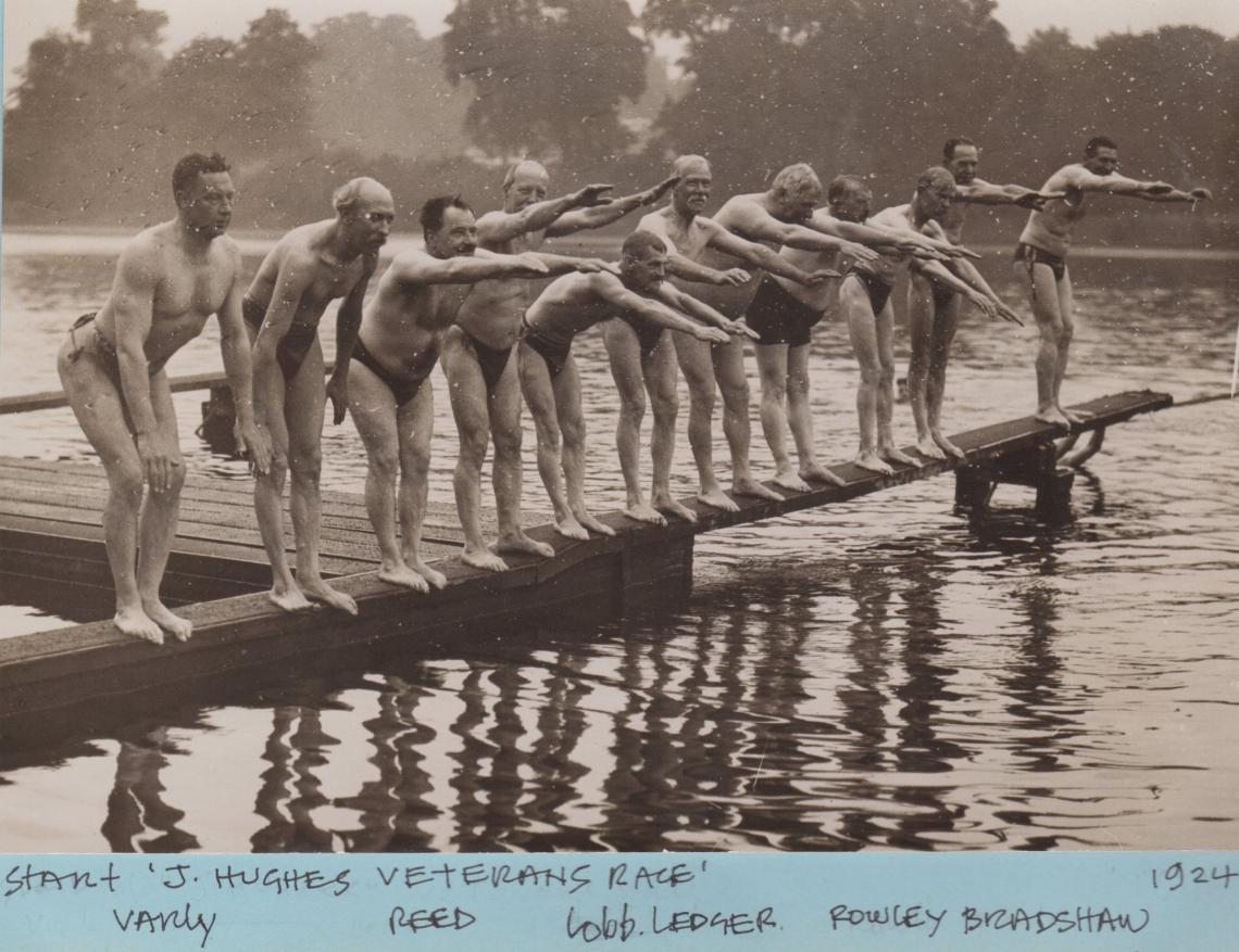 The Veterans' race has always been a well anticipated Serpentine event.
