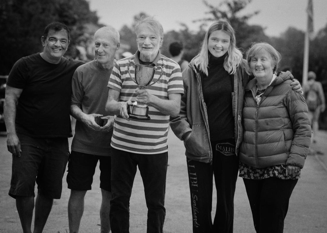 Tim, with Al Edirisinghe, Norman Jones, Celeste Gilbert and Lorraine Jones