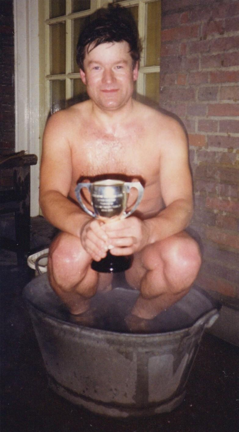 George Brutton won the 1986 Peter Pan cup
