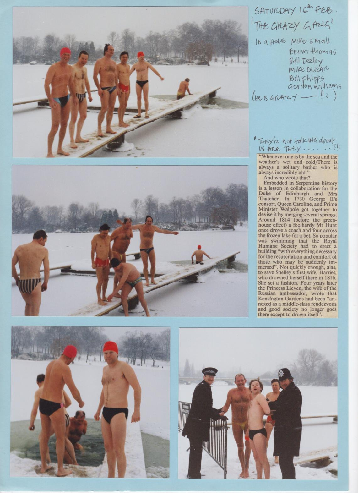 February 1991, races iced-off