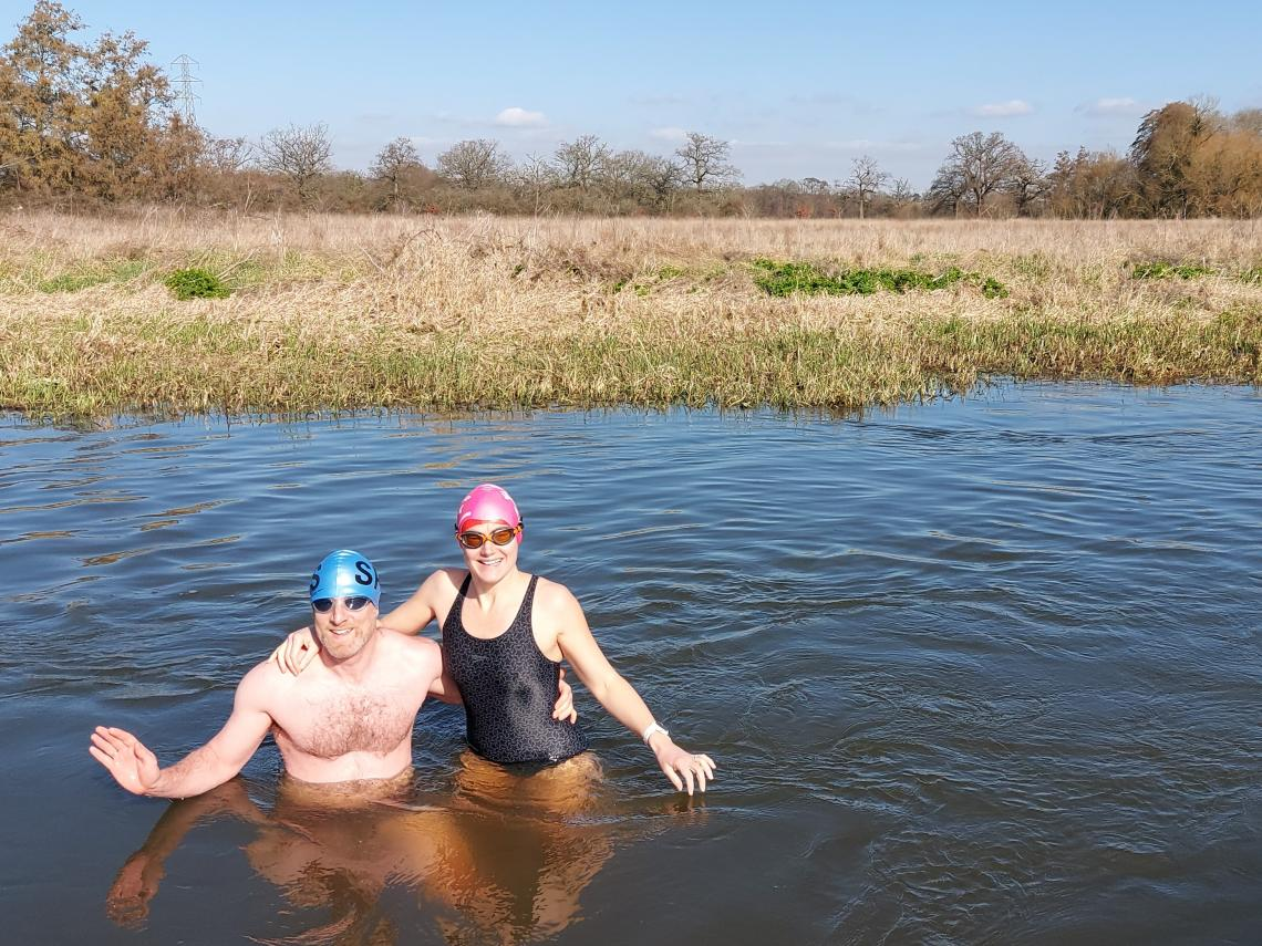 The Serpentine being unavailable, Anna and Sam have recently been taking a dip in the River Wey