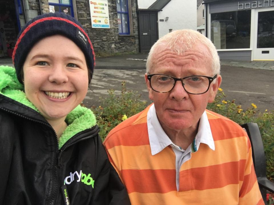 Rose with Peter Larrad who has swam Windermere 50 times