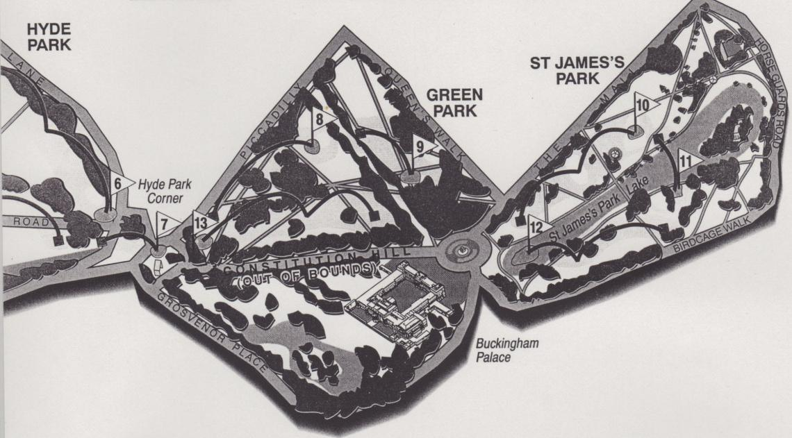 Green Park and St James's Park