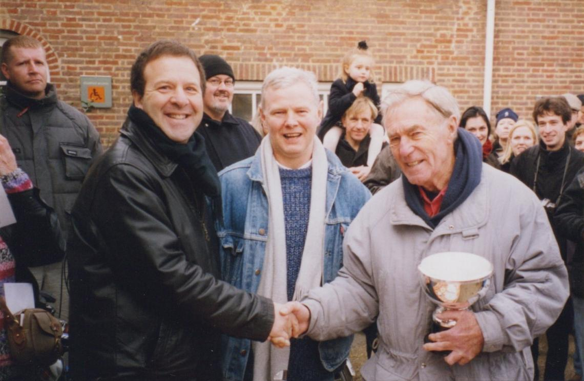 And the Peter Pan cup again in 2003.  The eagle eyed amongst you will spot a very young Felicity Challinor on Dad's shoulders in the background.