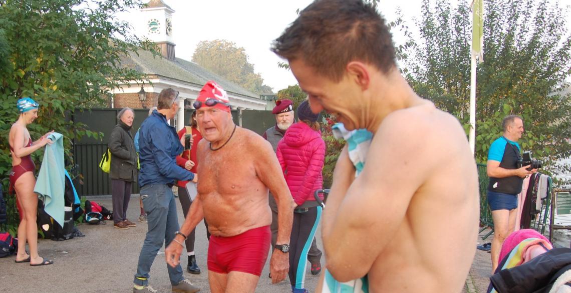 Jonny post race, watched on by Hayden Turner