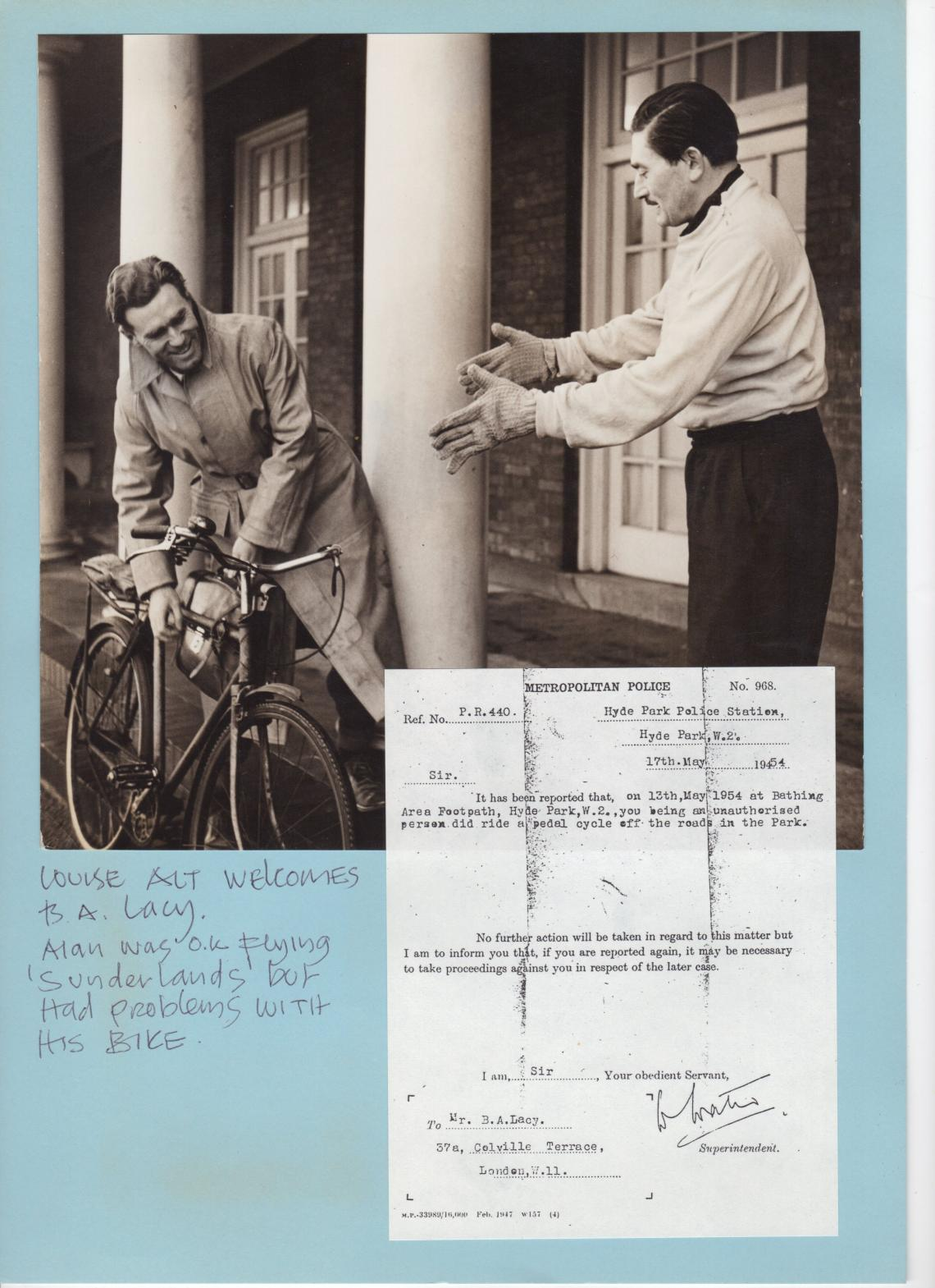 1954 cycling into trouble