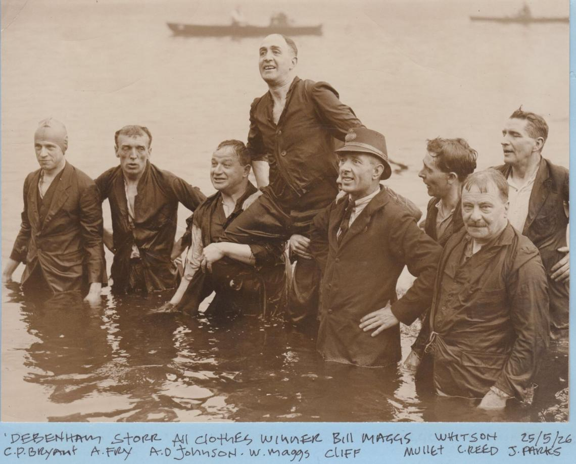 Bill Maggs, a 1926 winner.  Bill was recognised by the Royal Humane Society in 1913 for saving the life of a drowning man