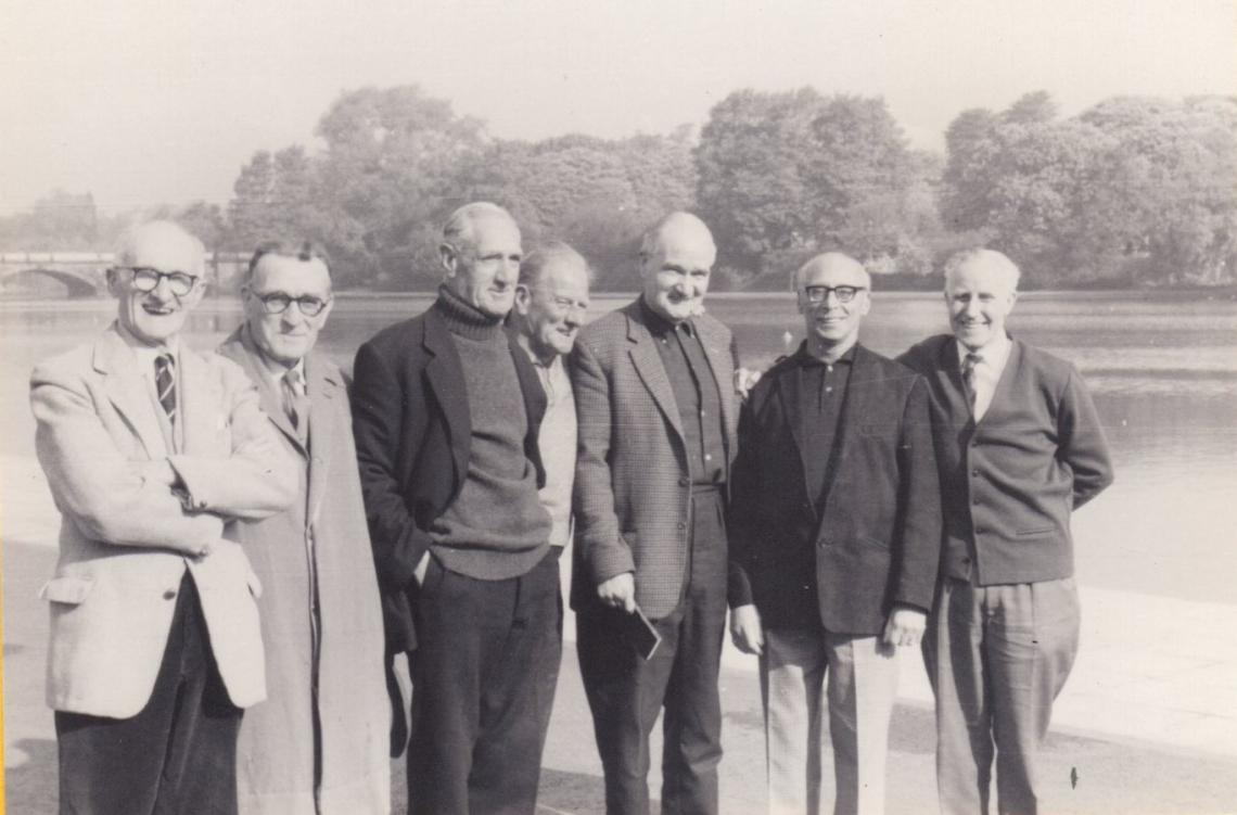 Seven wise men and true gents of the club, 4th May 1968 (after the Clary Reed cup race)