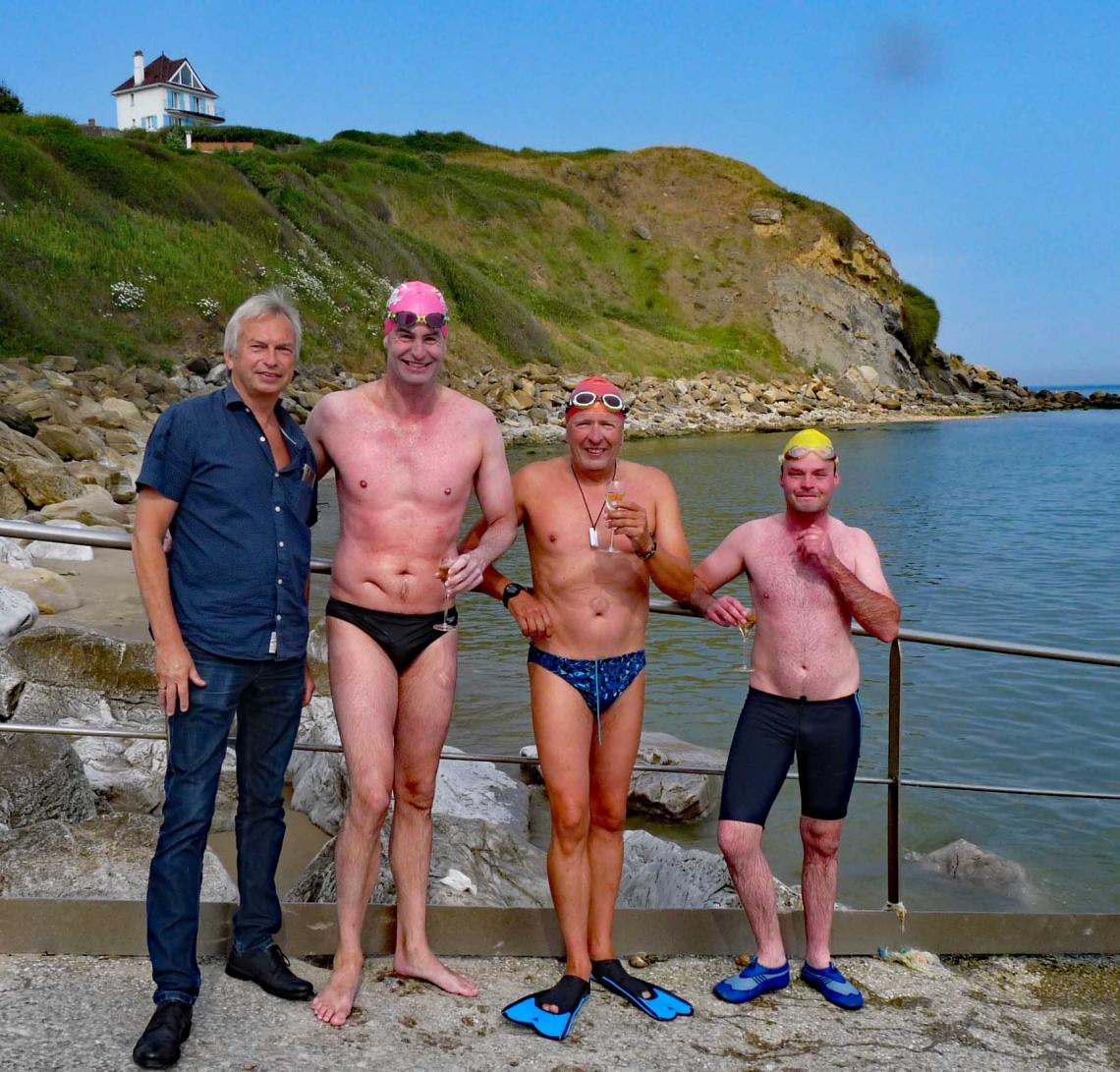 Nick Adams English Channel Solo swimmer completes the Oceans 14