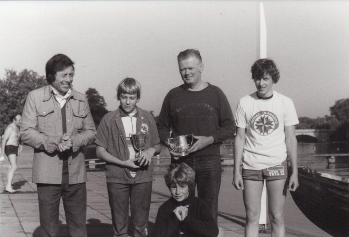 1977, Bill with Bob Kelly and boys Duff and Sean plus David Titmuss