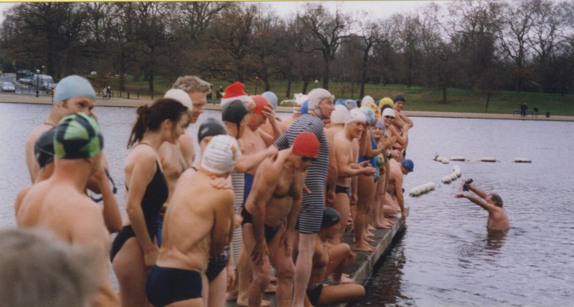 On the board for the start of the 2003 Peter Pan cup