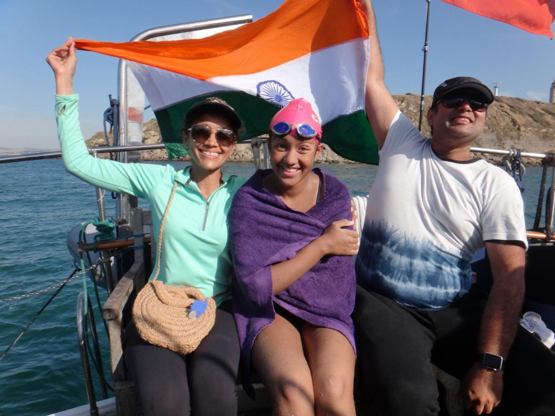 Gaurvi celebrates with Shubh Singhvi, and Abishek Singhvi