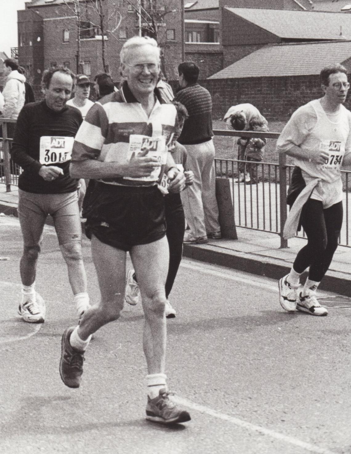In his latter years Cyril took to road running and completed many marathons