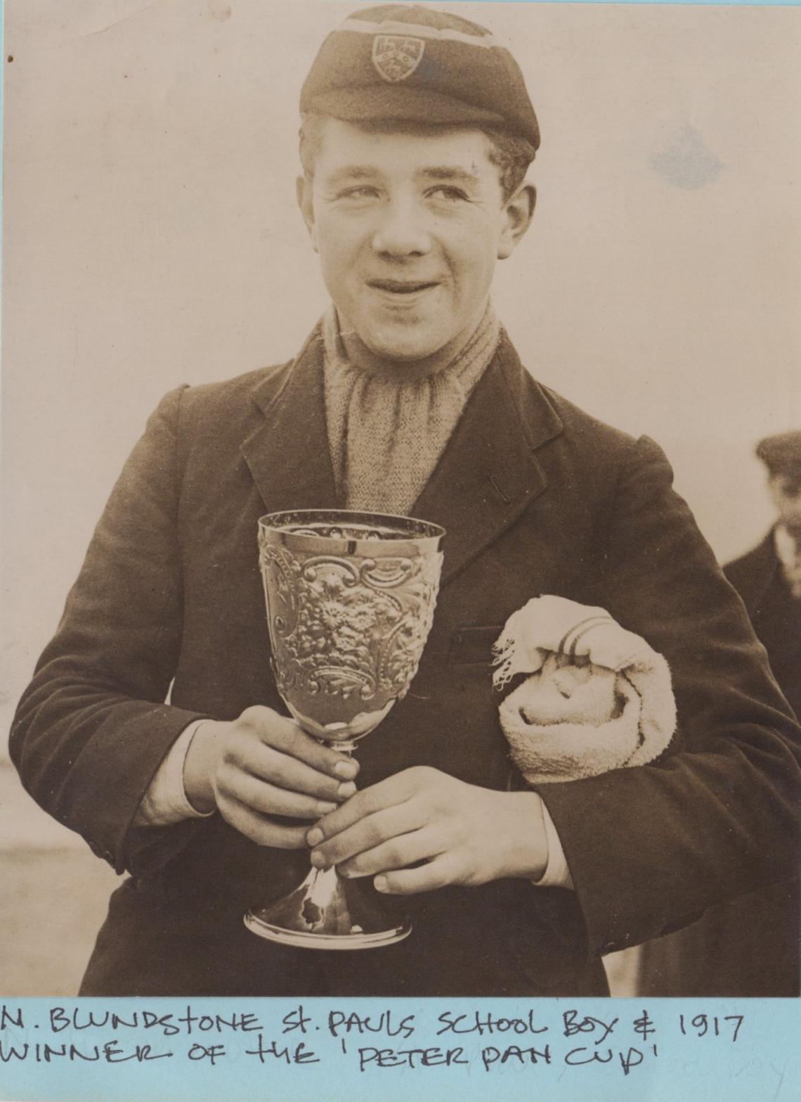 1917 winner 14 year old N Blunstone