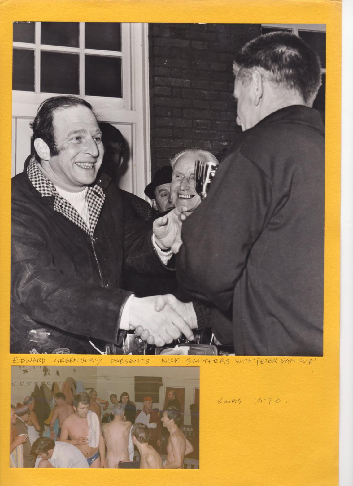 Edward Greenbury presents the 1970 cup to winner Nick Smithers